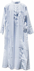 NEW Long White Men's Thoub Thowb Muslim Clothing Robe Dishdashe (Size S) Islamic