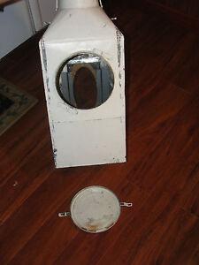 Hoosier Metal Flour Cabinet Bin Old Vintage White Tall