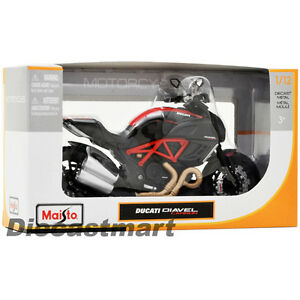 MAISTO-1-12-DUCATI-DIAVEL-CARBON-NEW-DIECAST-MODEL-MOTORCYCLE-BLACK-RED