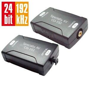 coax coaxial rca to optical digital audio cable converter 24bit 192k sampling rt ebay. Black Bedroom Furniture Sets. Home Design Ideas