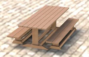 Details about Trestle Style Picnic Table DIY Building Plans 003 - Easy ...
