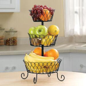 3 Tier Fruit Fruits Vegetable Display Basket Stand Holder
