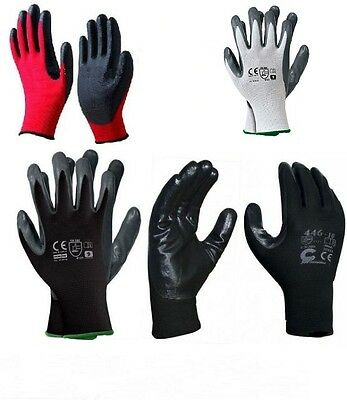240 PAIRS OF NEW NITRILE COATED WORK GLOVES CONSTRUCTION GARDARDENING