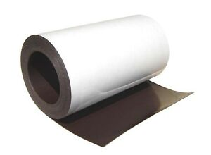 """(20 mil) 0.020""""x 8-1/8"""" x 10ft of Flexible Magnetic Sheet Roll with adhesive"""