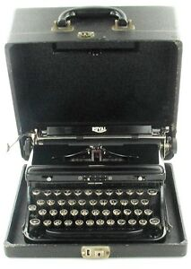VINTAGE-ROYAL-MODEL-039-O-039-STANDARD-PORTABLE-MANUAL-TOUCH-CONTROL-TYPEWRITER-1930s