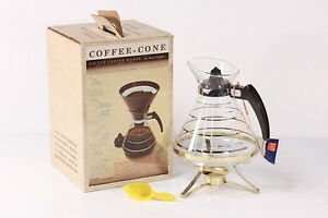 NOS-David-Douglas-Flameproof-Coffee-Carafe-amp-Warming-Stand-With-Candle-Burner
