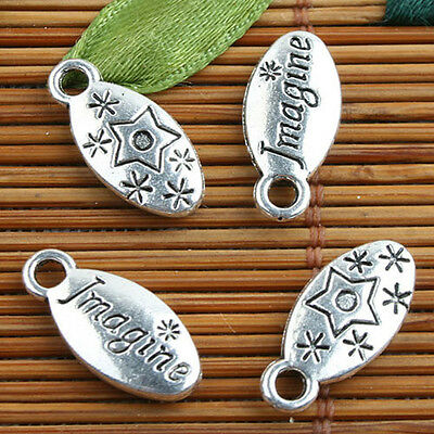 Tibetan Silver color Imagine charms 40pcs EF0088