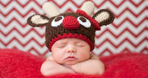 Cute Baby Infant Fawn Hat Costume Photo Photography Prop 0-6 month Newborn Brown
