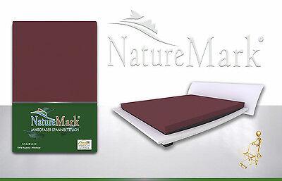 """Microfaser Spannbetttuch """"NatureMark"""" Spannbettlaken / Laken / Betttuch"""