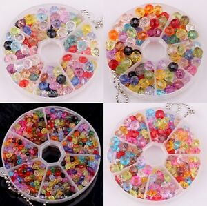 New-Stylish-200pcs-Multi-Colored-Acrylic-Faceted-Charm-Spacer-Beads-Jewelry