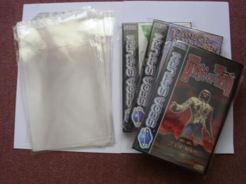 x20 SEGA SATURN/PS2/GAMECUBE GAME BOX PROTECTOR SLEEVES.