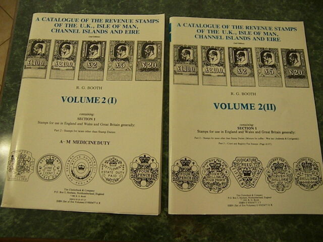 Catalogue of the Revenue Stamps of the UK, Isle of Man, C Is & Eire R G Booth V2