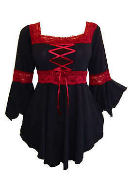 Renaissance Gothic Boho Gypsy Victorian Party Witchy Sexy Corset Top Size 3X
