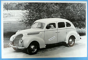 12 by 18 black white picture 1938 ford 4 door sedan for 1938 ford 4 door sedan