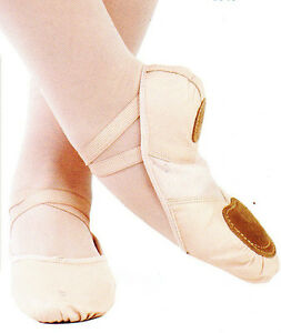 new box mainstreet ballet shoes leather classic pink split