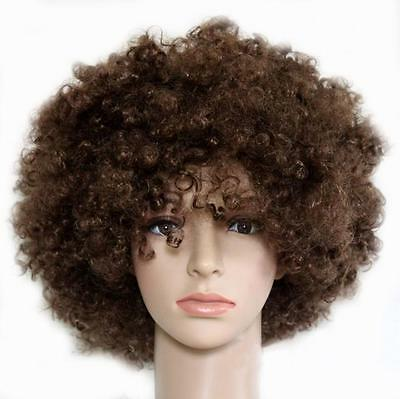 New Cosplay Curly Afro Wig Disco Clown Costume Accessory Colors