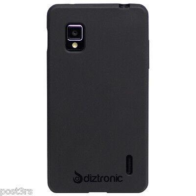 Diztronic LG Optimus G Matte Back Black TPU Case Cover Sprint Bell Telus Rogers