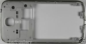 OEM TRACFONE SAMSUNG GALAXY S4 SM-S975L REPLACEMENT SILVER MID FRAME BEZEL