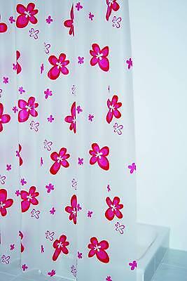 Folien Duschvorhang Blume rose rosa 180 x 200 cm, chic & preiswert, neu & OVP