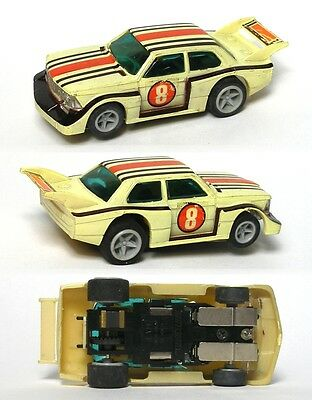 1978-80 LIGHTED Matchbox Speedtrack HO Slot Car Clean BMW 320i Rally Unused A+