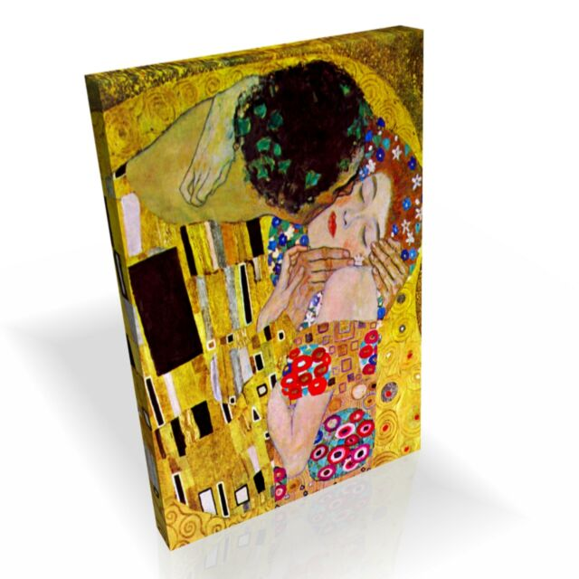 Gustav Klimt The Kiss ★ Top Quality Box Canvas Framed Ready to Hang ★ A1 A2 A3