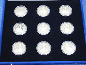 1987-Papal-Visit-Silver-Collection-Pope-John-Paul-II-set-of-9-Proof-Medals-B9166