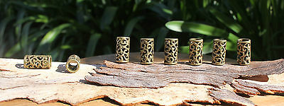 8 TIBETAN Style Antique Bronze DREADLOCK BEADS 8mm Hole DREAD *NEW* Hair Beads