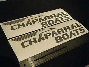 Chaparral-Boats-Vintage-Silver-Metallic-Decal-12-034-Stickers-Pair