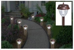 Westinghouse-14pc-Stainless-Steel-Energy-Efficient-Solar-LED-Landscape-Lights