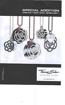 PUBLICITE 2012  THOMAS SABO pendentif en argent LOVE