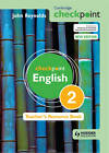 Cambridge Checkpoint English Teacher's Resource Book 2 by John Reynolds (Mixed media product, 2011)