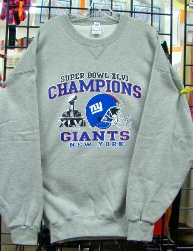 Superbowl CHAMPIONS  Gray Sweatshirt 2XL New York GIANTS 4XL L 3XL XL 5XL