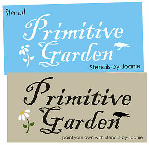 Country-STENCIL-Prim-Garden-Daisy-Flower-Crow-Art-Signs-Designs-by-Joanie-E50