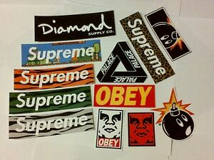 Supreme-Classic-Box-Logo-Skateboard-Stickers-Car-Bumper-Decal-Laptop-Sticker