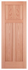 3 Panel Flat Mission Shaker Red Oak Solid Core Stain Grade Interior Wood Doors Ebay
