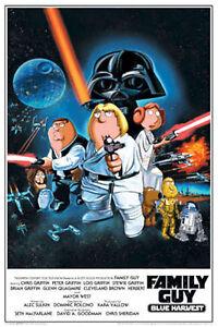 family guy star wars stewie vader parody poster a6047 ebay