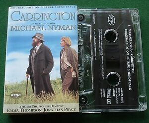 Carrington-OST-Michael-Nyman-Argo-Label-Cassette-Tape-TESTED