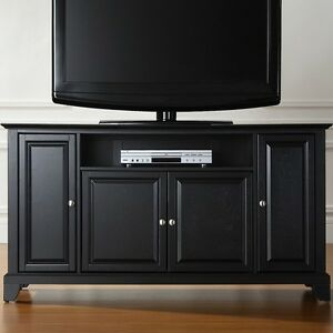 black tv stand flat screen 60 inch television entertainment center new dlp 52 30. Black Bedroom Furniture Sets. Home Design Ideas