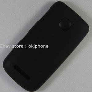 Black-New-TPU-Gel-Soft-Case-Cover-Skin-For-Nokia-Asha-311-RM-714-FREE-Shipping