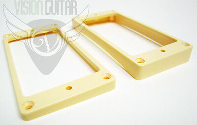 NEW! Cream Curved Taper Epiphone Humbucking Pickup Ring Set