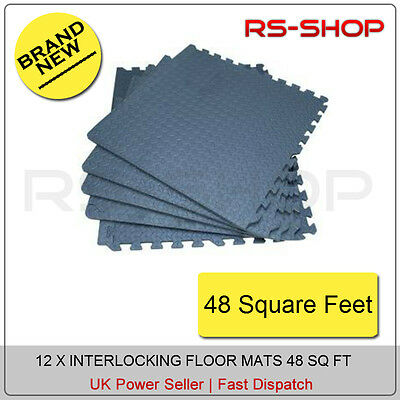 48 SQ FT INTERLOCKING EVA FOAM MATS TILES GYM PLAY GARAGE WORKSHOP FLOOR MAT
