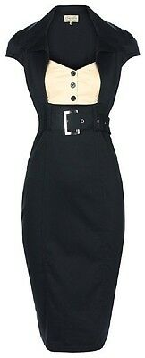 NEW LINDY BOP PETITE 'WYNONA' VINTAGE 1950's INSPIRED OFFICE STYLE WIGGLE DRESS
