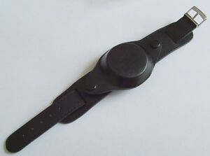 New-Leather-Black-Millitary-Watch-Strap-amp-Cover-18mm-Steel
