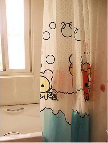 san-x Rilakkuma EVA bath  Shower Curtain with hooks