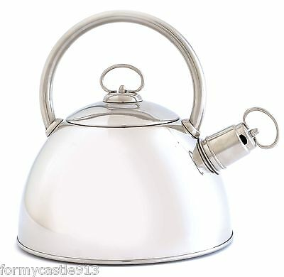 Norpro 5625 Whistling Tea kettle 2.6 Qt, Brushed Stainless Steel