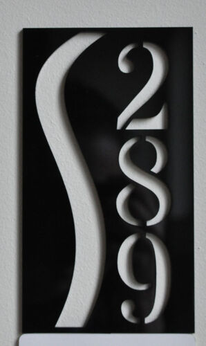 Custom HOUSE/DOOR NUMBER SIGN PLAQUE Laser Cut UV RESISTANT ORIGINAL