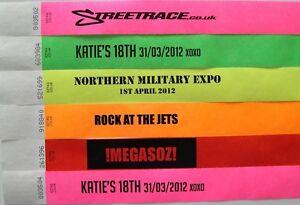 CUSTOM-WRISTBANDS-Party-Event-Festival-Paper-Wrist-Bands-Tags-Bracelets