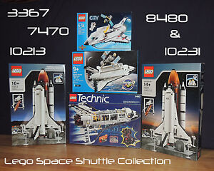 5 New Lego Space Shuttle Sets 3367 7470 8480 10213 10231 8