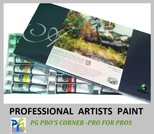 Artist's 12ml Acrylic Paints Set of 18 Assorted Colors
