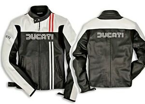 NEW-Dainese-Ducati-80s-Preforated-Leather-Jacket-FREE-SHIPPING